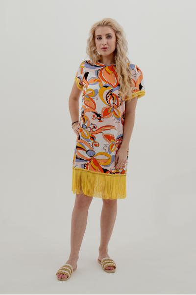 Короткое платье с бахромой PHO Firenze 4311079