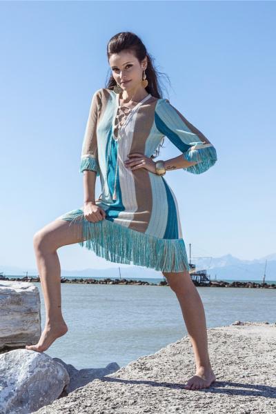 Вязанное платье с бахромой PHO Firenze 4311102