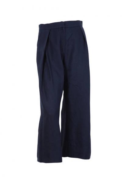 Льняные синие брюки 191474-039
